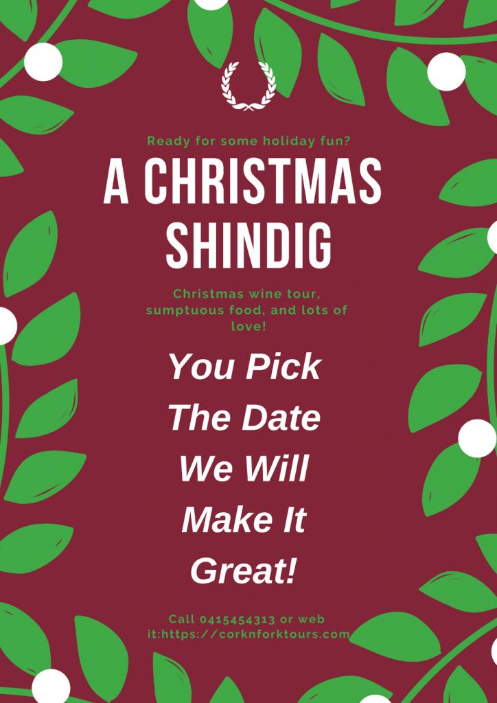 A Christmas Shindig poster!